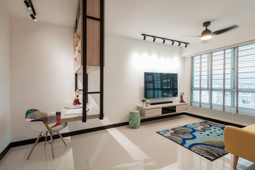 Scandinavian, HDB, Bendemeer Road, Interior Designer, MMJ Design Loft, Chair, Furniture, Window