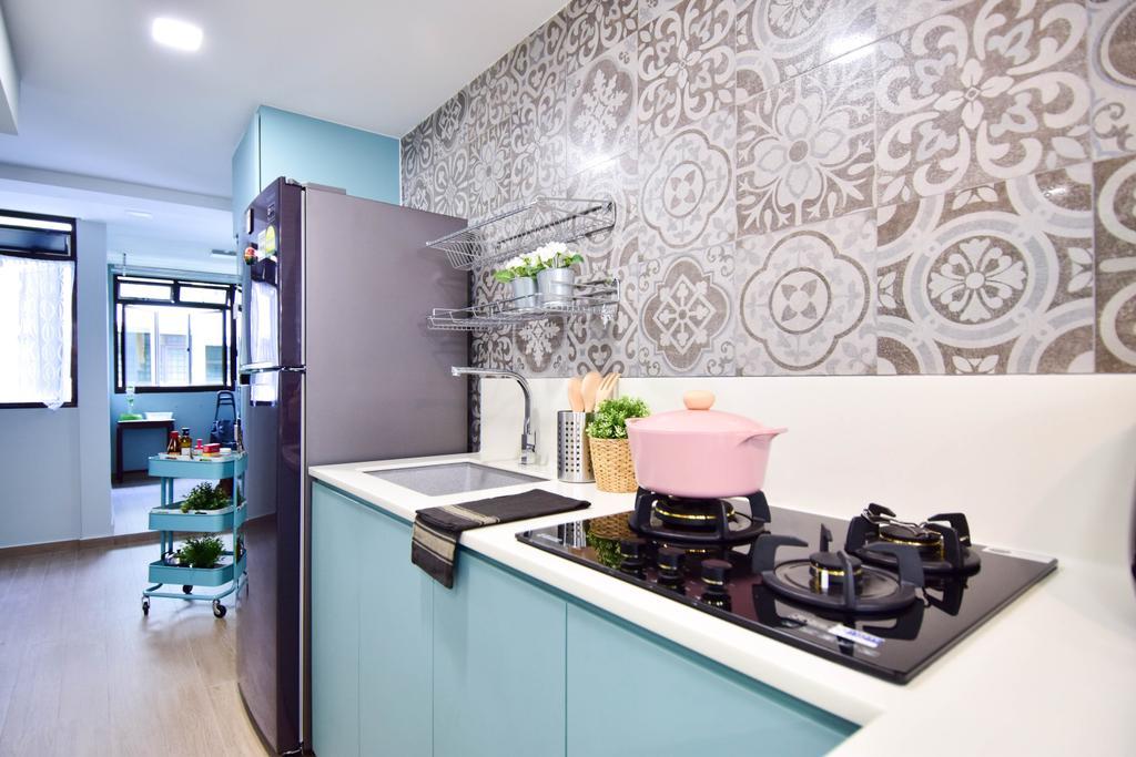 Retro, HDB, Kitchen, Jalan Klinik, Interior Designer, MMJ Design Loft, Eclectic