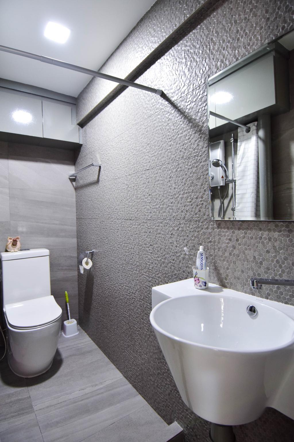 Retro, HDB, Bathroom, Jalan Klinik, Interior Designer, MMJ Design Loft, Eclectic, Indoors, Interior Design, Room