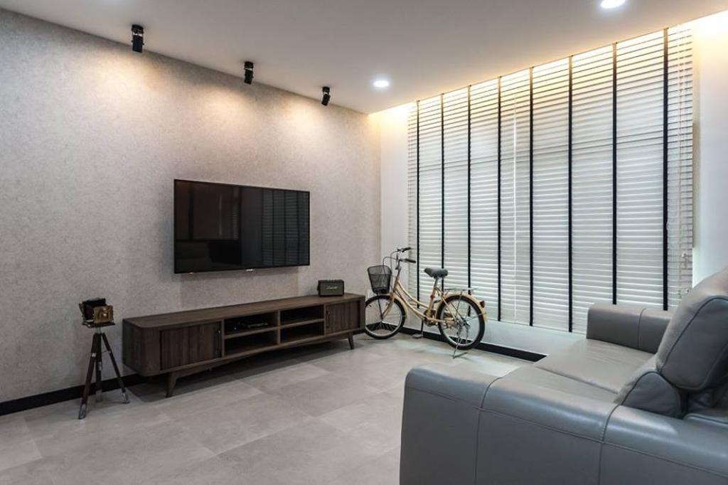 Industrial, HDB, Living Room, Keat Hong Close, Interior Designer, MMJ Design Loft, Indoors, Room, Couch, Furniture