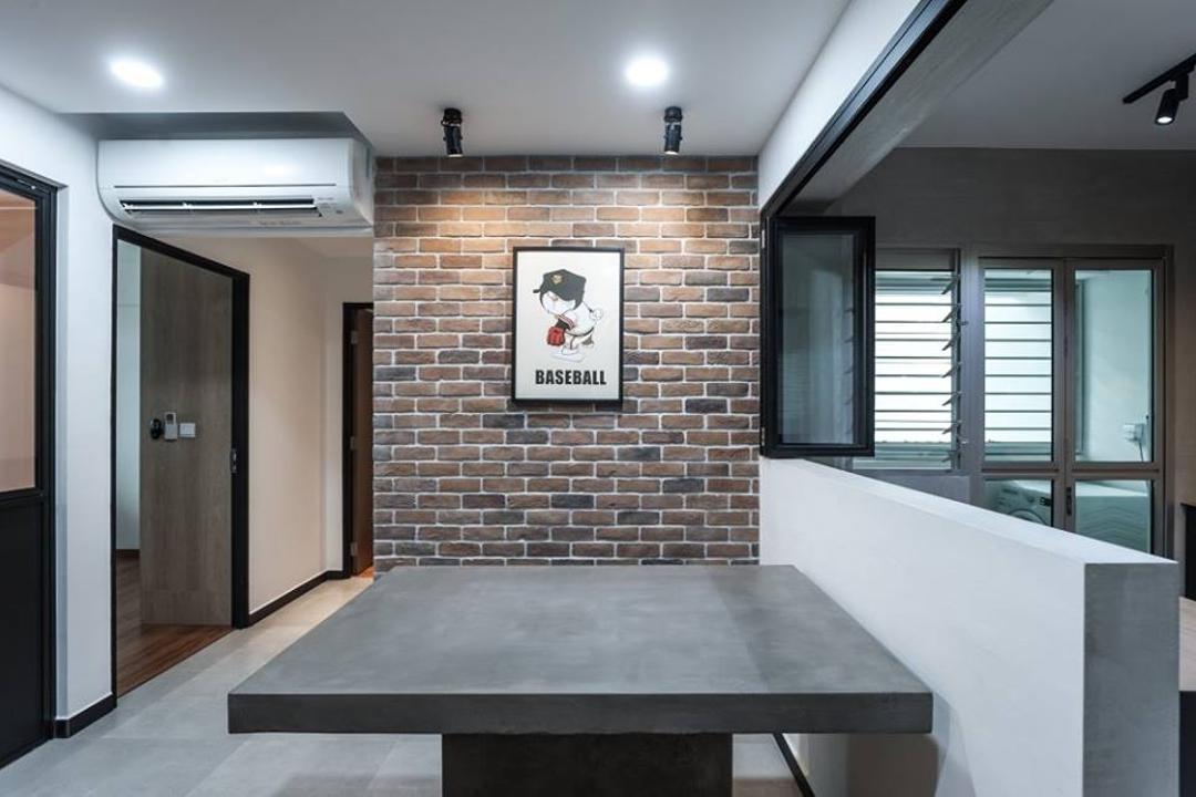 Keat Hong Close, MMJ Design Loft, Industrial, Dining Room, HDB, Building, Housing, Indoors, Loft, Siding