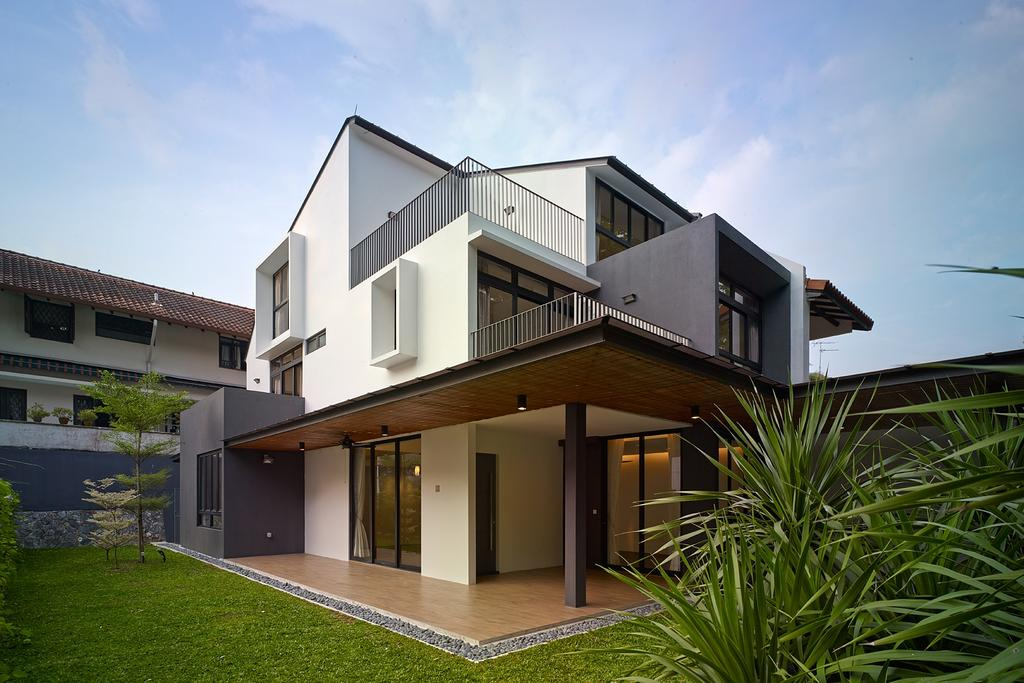 Modern, Landed, Jalan Sejarah, Interior Designer, The Design Abode, Home Exterior, Exterior, Architecture, Porch, Building, House, Housing, Villa