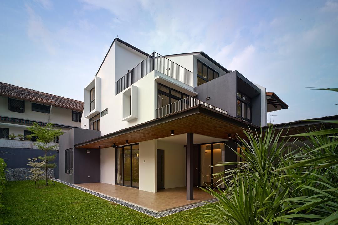 Jalan Sejarah, The Design Abode, Modern, Landed, Home Exterior, Exterior, Architecture, Porch, Building, House, Housing, Villa