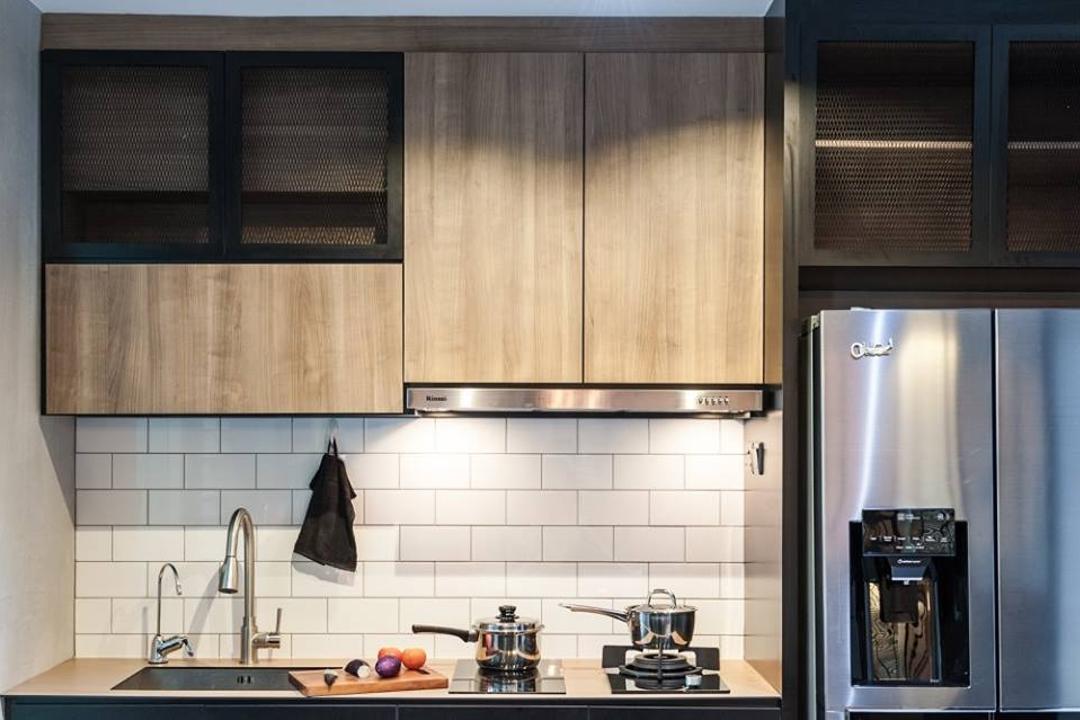 Keat Hong Close, MMJ Design Loft, Industrial, HDB, Bathroom, Indoors, Interior Design, Room, Kitchen, Electronics, Stereo