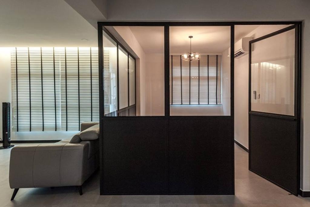 Industrial, HDB, Keat Hong Close, Interior Designer, MMJ Design Loft, Couch, Furniture