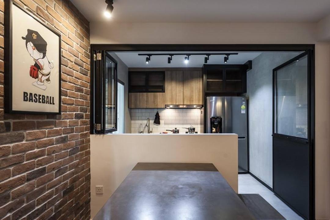 Keat Hong Close, MMJ Design Loft, Industrial, HDB, Brick