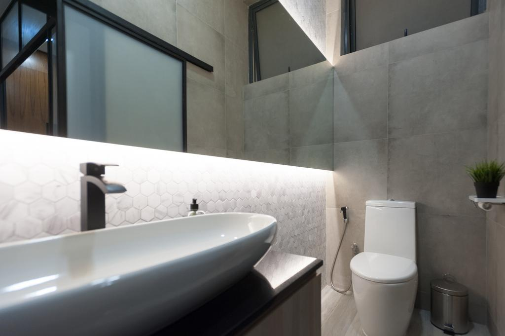 Geylang Road, Commercial, Interior Designer, MMJ Design Loft, Toilet, Triangle, Bathroom, Indoors, Interior Design, Room