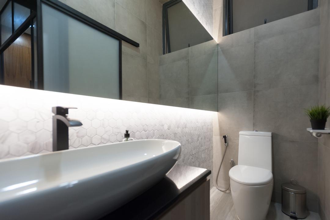 Geylang Road, MMJ Design Loft, Commercial, Toilet, Triangle, Bathroom, Indoors, Interior Design, Room