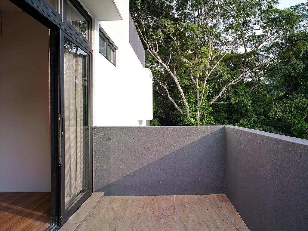 Modern, Landed, Jalan Sejarah, Interior Designer, The Design Abode, Balcony, Wood Floor, Wood Flooring