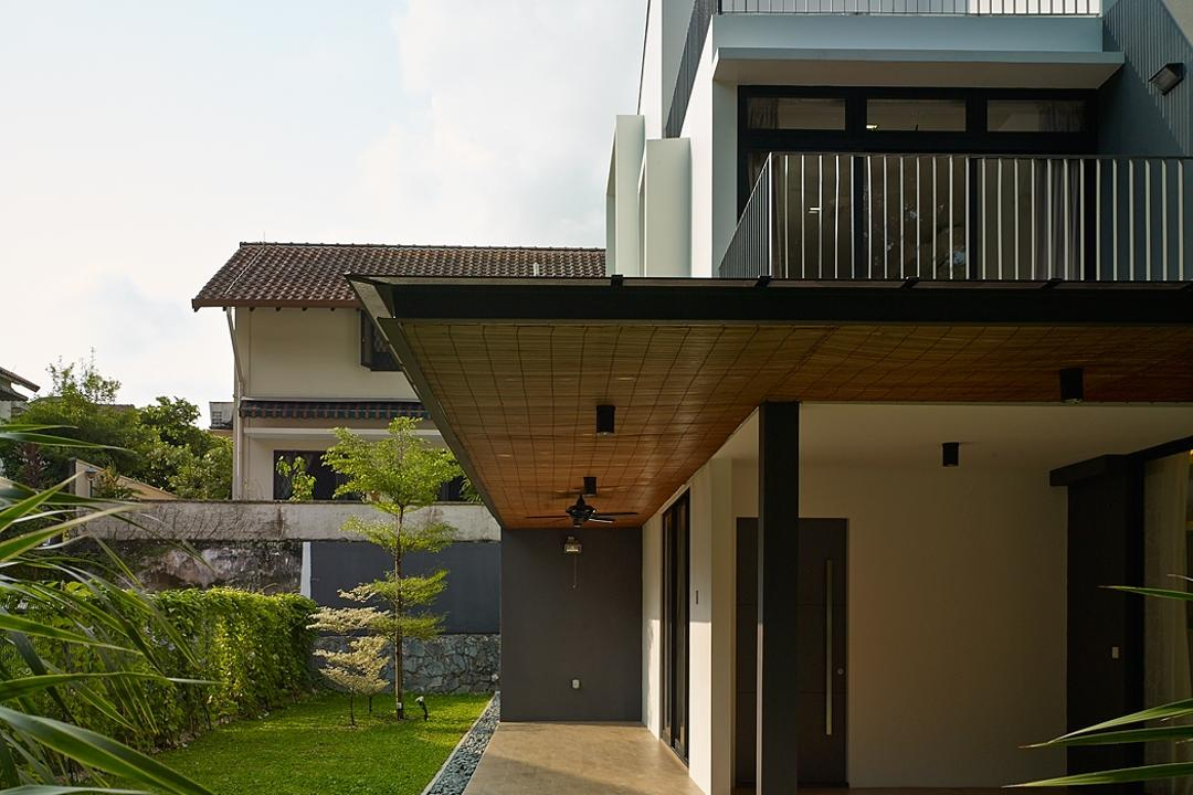 Jalan Sejarah, The Design Abode, Modern, Landed, Garden, Greens, Plants, Porch, Building, House, Housing, Villa, Conifer, Flora, Larch, Plant, Tree, Cottage