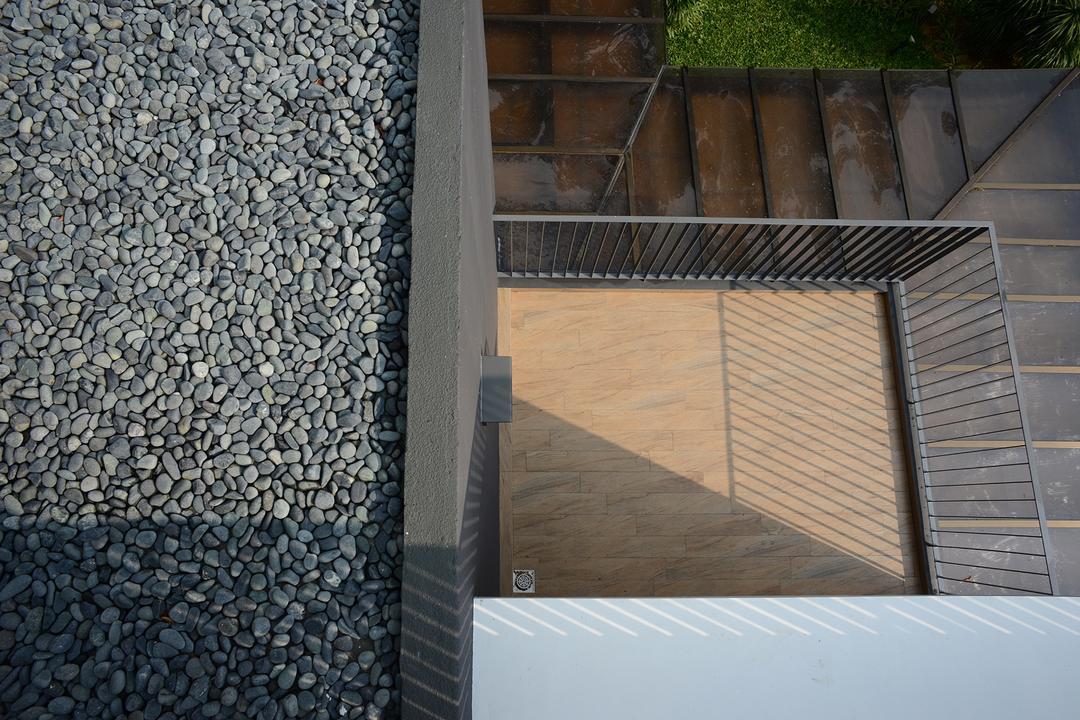 Jalan Sejarah, The Design Abode, Modern, Landed, Balcony, Dirt Road, Gravel, Road, Building, Office Building