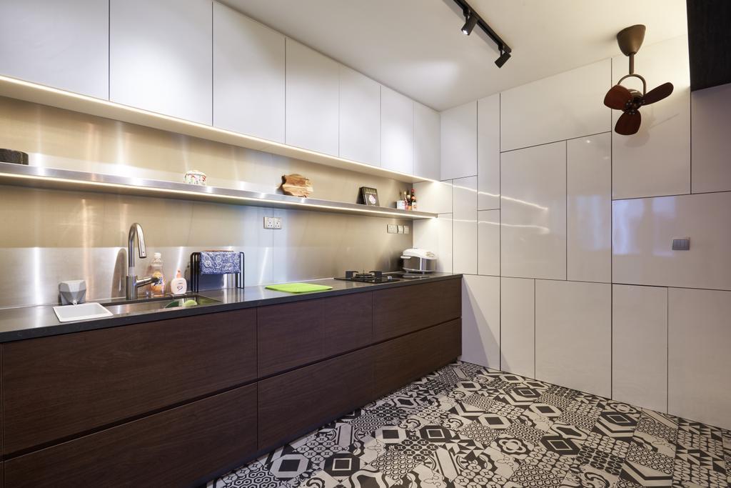 Industrial, HDB, Kitchen, Anchorvale Crescent, Interior Designer, Create