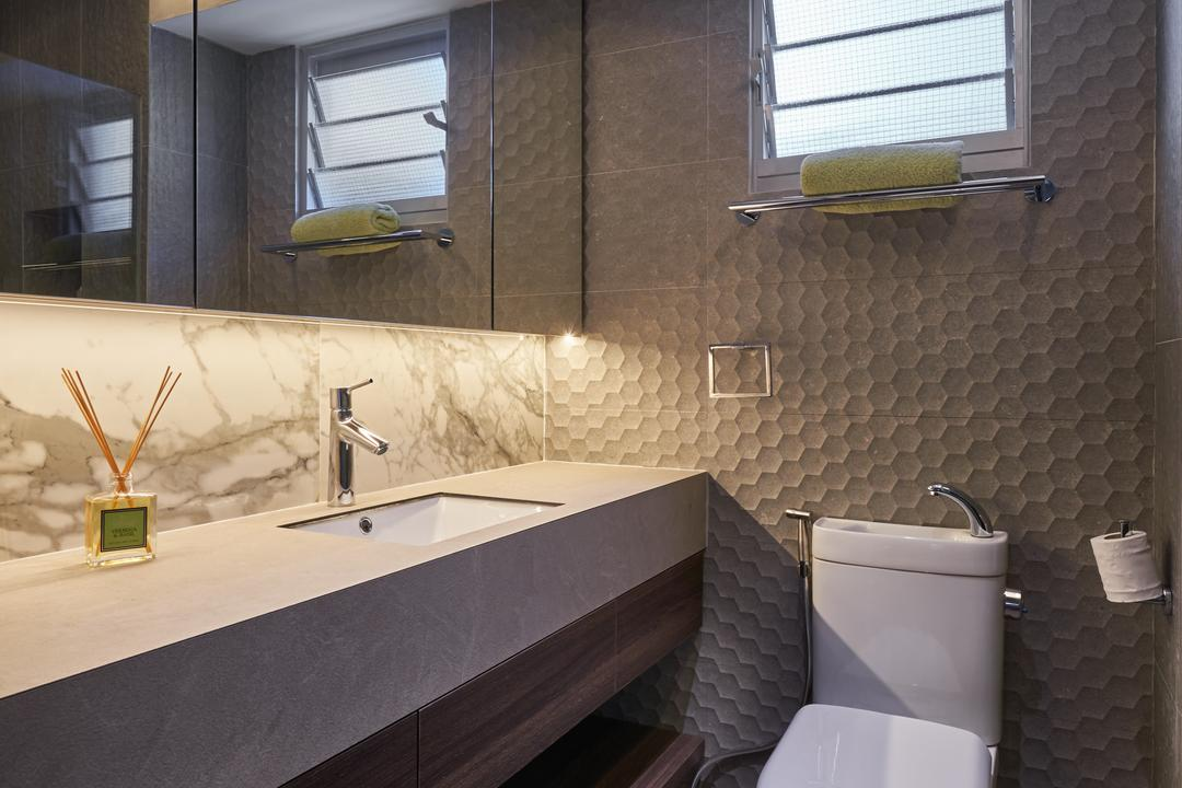 Anchorvale Crescent, Create, Industrial, Bathroom, HDB, Sink, Trophy