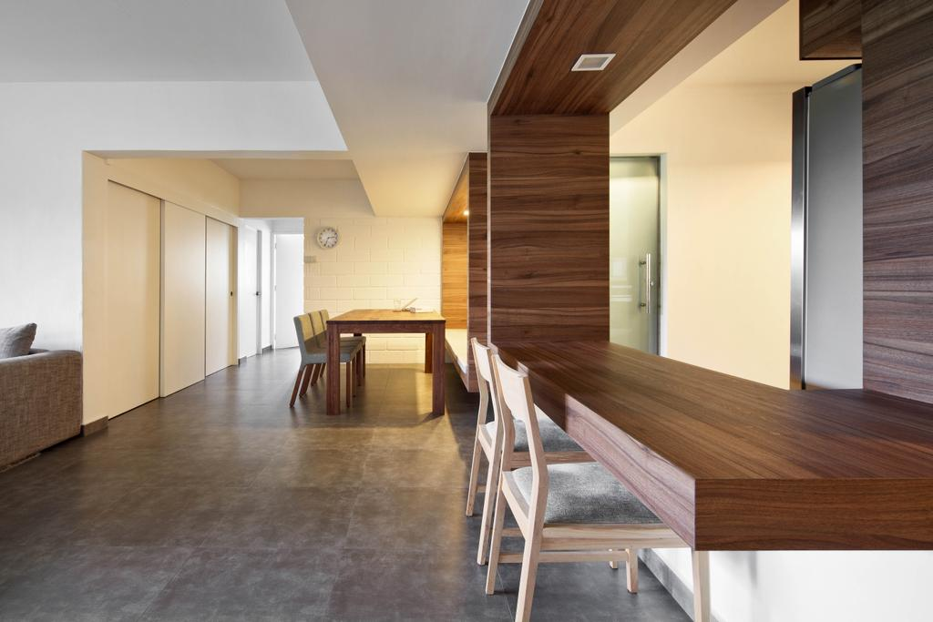 Minimalistic, HDB, Dining Room, New Upper Changi Road, Interior Designer, The Design Abode, Dining Room Chairs, Chairs, Wood, Zen, Dining Table, Furniture, Table, Building, Housing, Indoors, Loft, Interior Design, Room, Chair