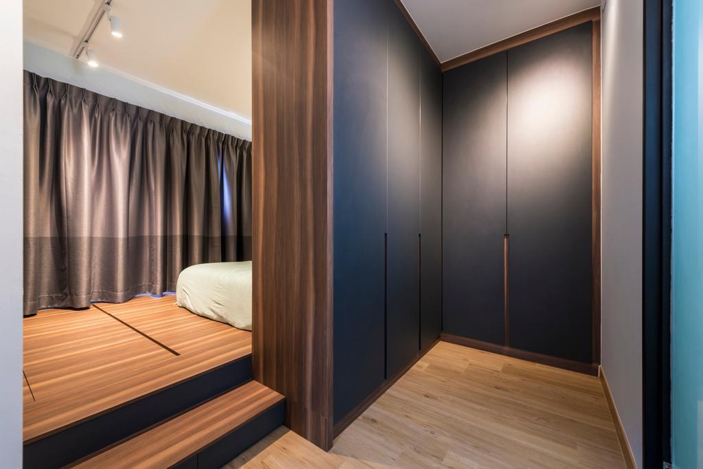Modern, HDB, Bedroom, Ghim Moh Link, Interior Designer, Adroit ID, Flooring, Wood