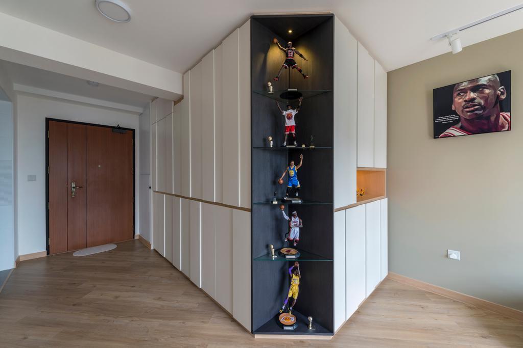 Modern, HDB, Living Room, Ghim Moh Link, Interior Designer, Adroit ID, Human, People, Person, Flooring
