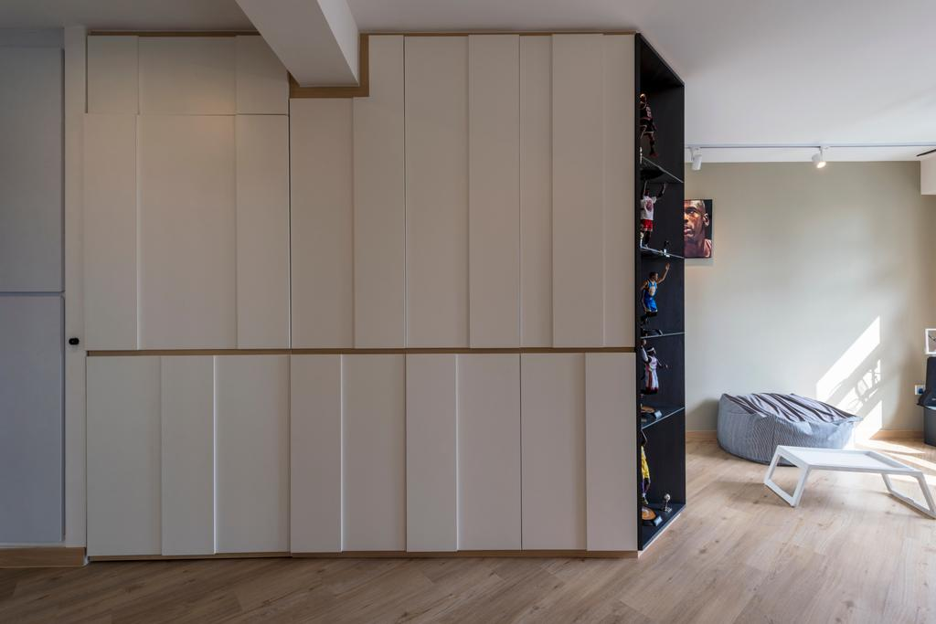 Modern, HDB, Living Room, Ghim Moh Link, Interior Designer, Adroit ID, Molding, Closet, Furniture, Wardrobe