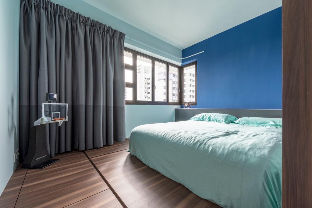 Modern, HDB, Bedroom, Ghim Moh Link, Interior Designer, Adroit ID, Bed, Furniture, Indoors, Interior Design, Room