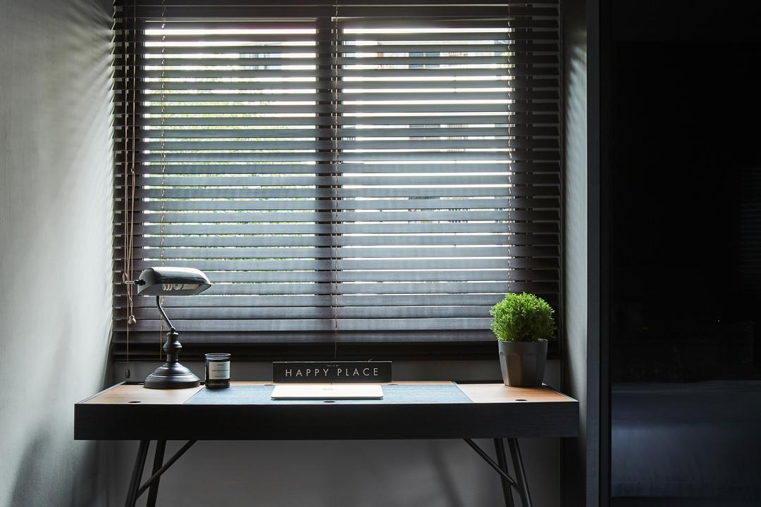Pine Close, Bowerman, Study, HDB, Curtain, Home Decor, Window, Window Shade, Flora, Jar, Plant, Potted Plant, Pottery, Vase, Dining Table, Furniture, Table
