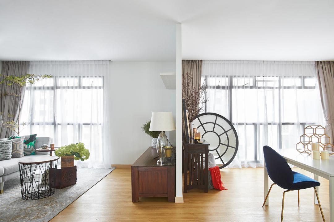 Telok Blangah, Bowerman, Minimalistic, Eclectic, Living Room, HDB, Chair, Furniture, Lamp, Table Lamp, Indoors, Interior Design