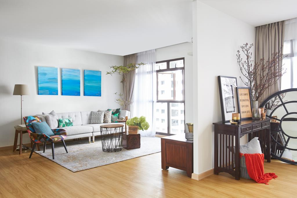 Minimalist, HDB, Living Room, Telok Blangah, Interior Designer, Bowerman, Eclectic, Flooring, Indoors, Interior Design, Room