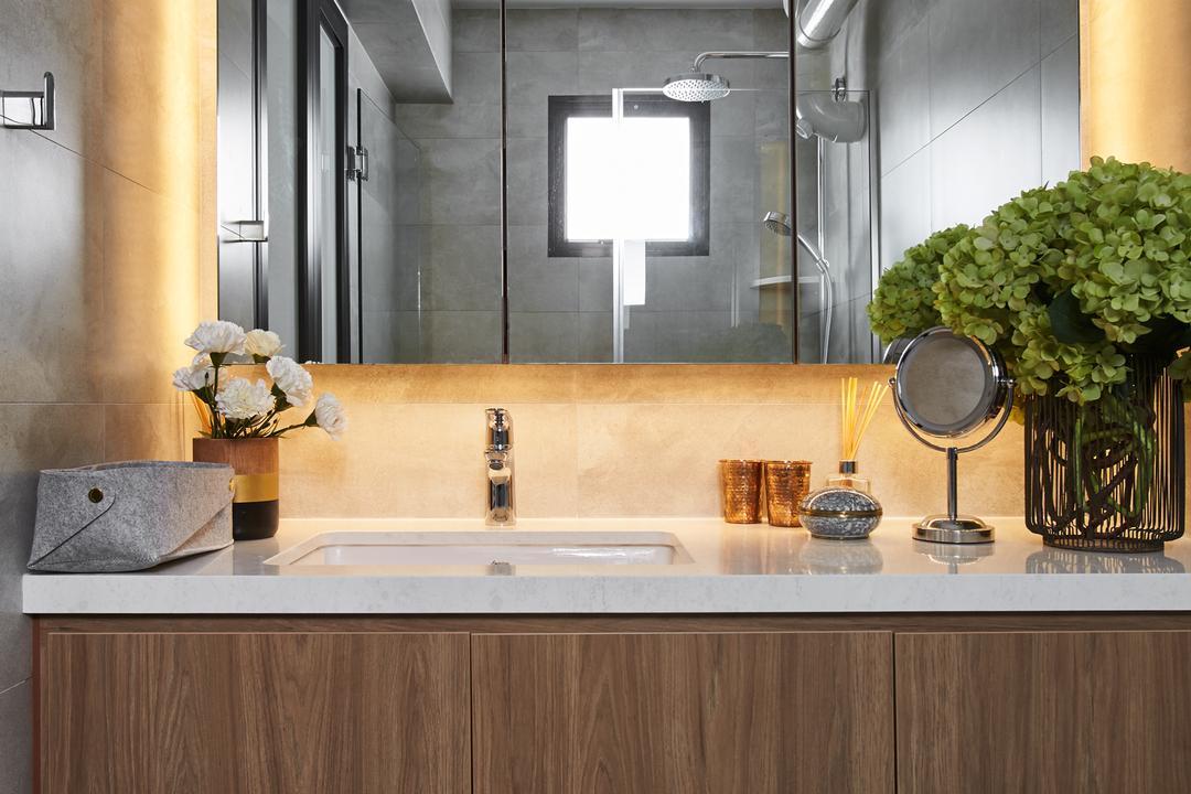 Telok Blangah, Bowerman, Minimalistic, Eclectic, Bathroom, HDB, Flora, Jar, Plant, Potted Plant, Pottery, Vase, Bonsai, Tree, Window, Sink