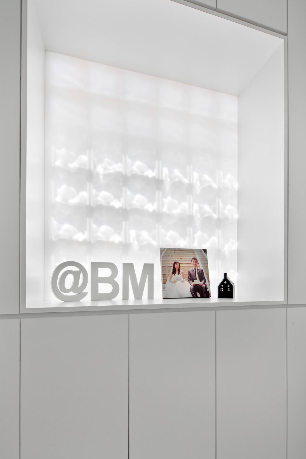 Minimalistic, Condo, Bedroom, Highland Condominium, Interior Designer, The Design Abode, Cabinet, Cabinetry, Photo, Photo Frame