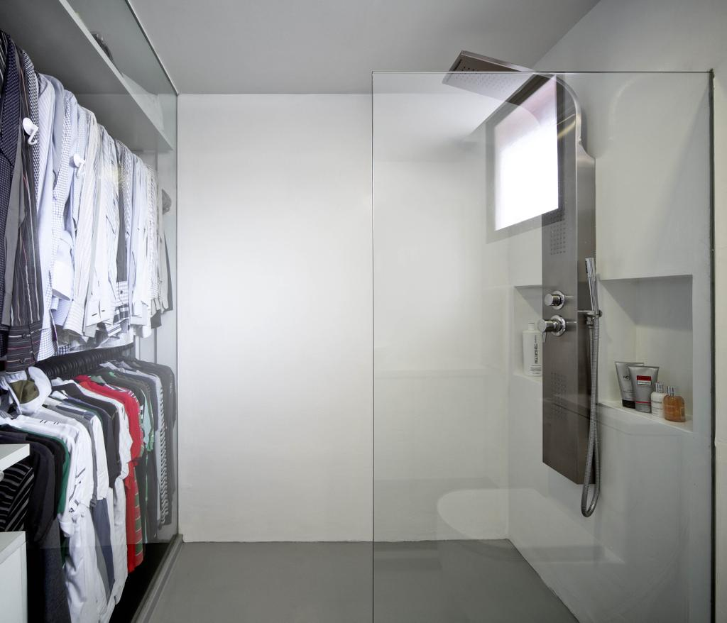 Minimalistic, Condo, Bathroom, Highland Condominium, Interior Designer, The Design Abode, Wardrobe, Shower Screed, Shower Head