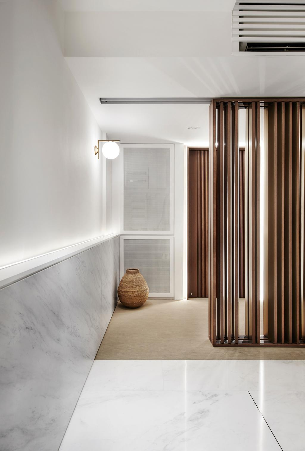 Contemporary, Condo, The Seafront, Architect, UPSTAIRS_, Minimalistic, Jar, Pottery, Vase, Door, Folding Door, Indoors, Interior Design