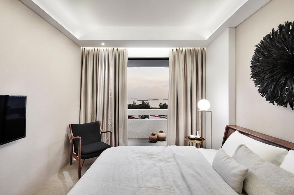 Contemporary, Condo, Bedroom, The Seafront, Architect, UPSTAIRS_, Minimalistic, Couch, Furniture, Indoors, Interior Design, Room, Window