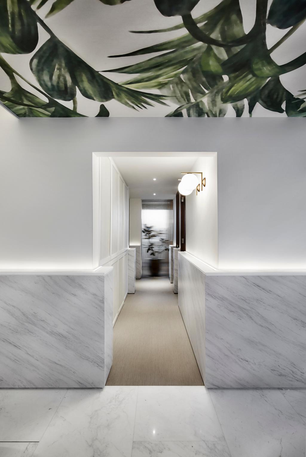 Contemporary, Condo, The Seafront, Architect, UPSTAIRS_, Minimalistic, Corridor