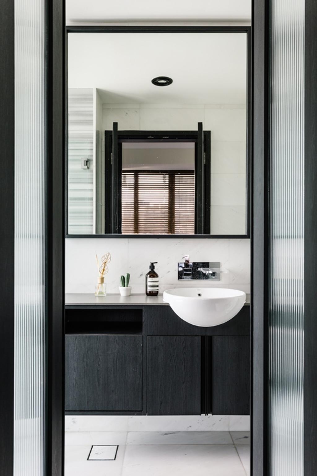 Modern, Condo, Bathroom, Lincoln Suites, Interior Designer, Habit, Minimalist