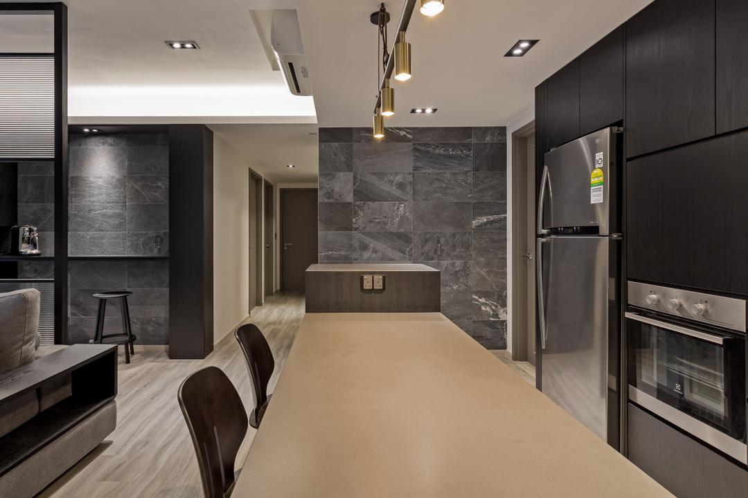 Bellewaters, Habit, Modern, Contemporary, Dining Room, Condo, Gate, Turnstile, Indoors, Interior Design