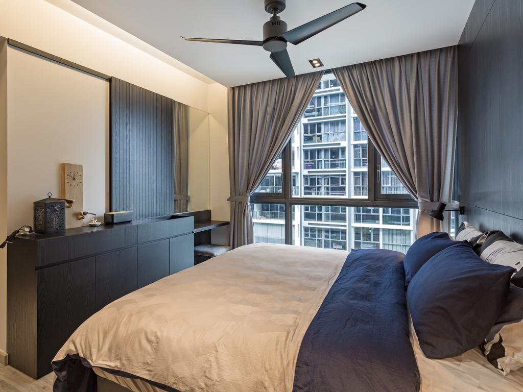 Modern, Condo, Bedroom, Bellewaters, Interior Designer, Habit, Contemporary, Plywood, Wood, Indoors, Room, Interior Design