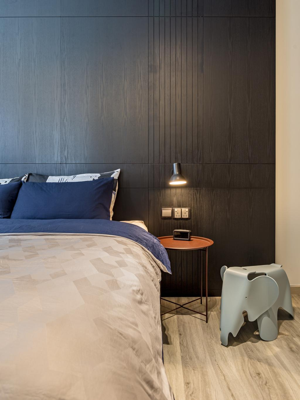 Modern, Condo, Bedroom, Bellewaters, Interior Designer, Habit, Contemporary