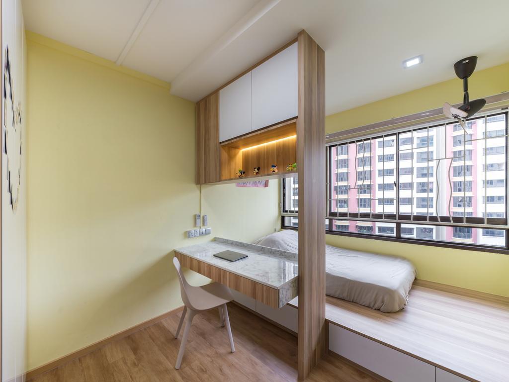 Modern, HDB, Bedroom, Choa Chu Kang Street 64, Interior Designer, U-Home Interior Design, Building, Housing, Indoors, Interior Design, Dining Table, Furniture, Table, Bed