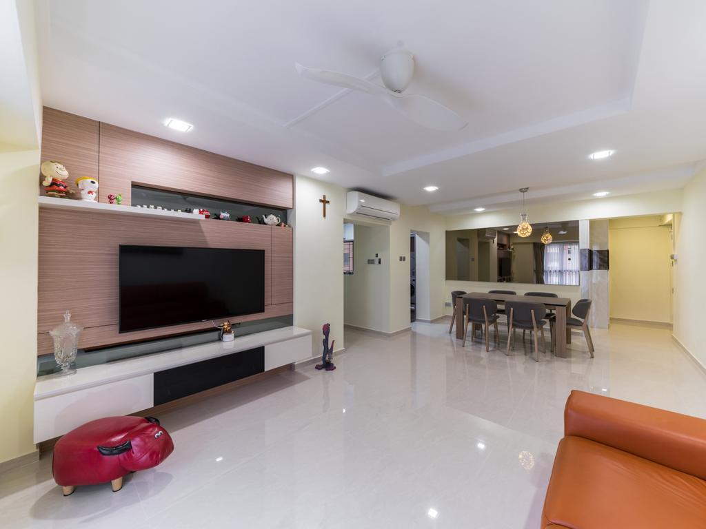 Modern, HDB, Choa Chu Kang Street 64, Interior Designer, U-Home Interior Design, Dining Table, Furniture, Table, Dining Room, Indoors, Interior Design, Room