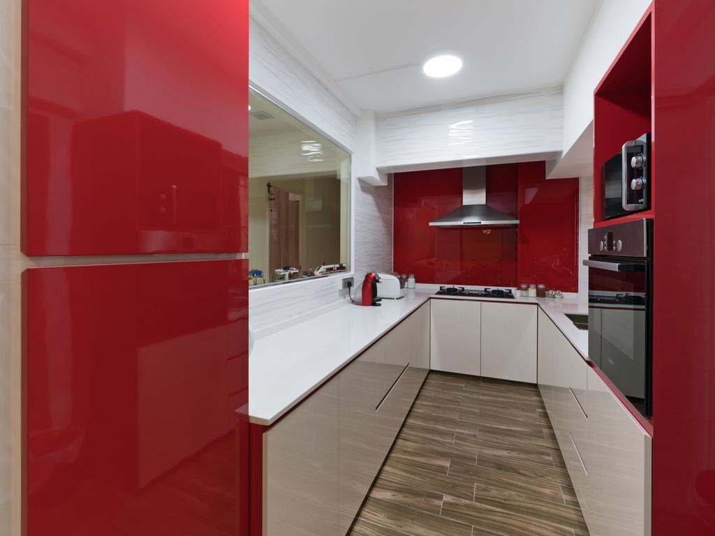 Modern, HDB, Kitchen, Choa Chu Kang Street 64, Interior Designer, U-Home Interior Design, Appliance, Electrical Device, Oven, Indoors, Interior Design
