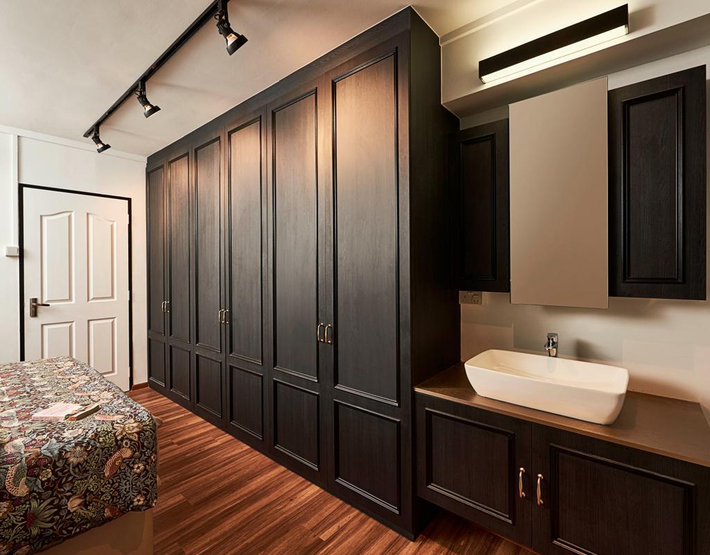 Contemporary, HDB, Bedroom, Pasir Ris Street 12, Interior Designer, Versaform, Bathroom, Indoors, Interior Design, Room, Sink