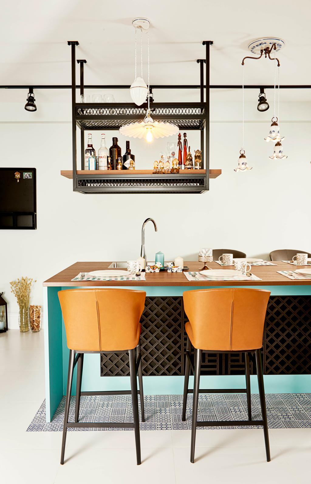 Contemporary, HDB, Pasir Ris Street 12, Interior Designer, Versaform, Dining Table, Furniture, Table