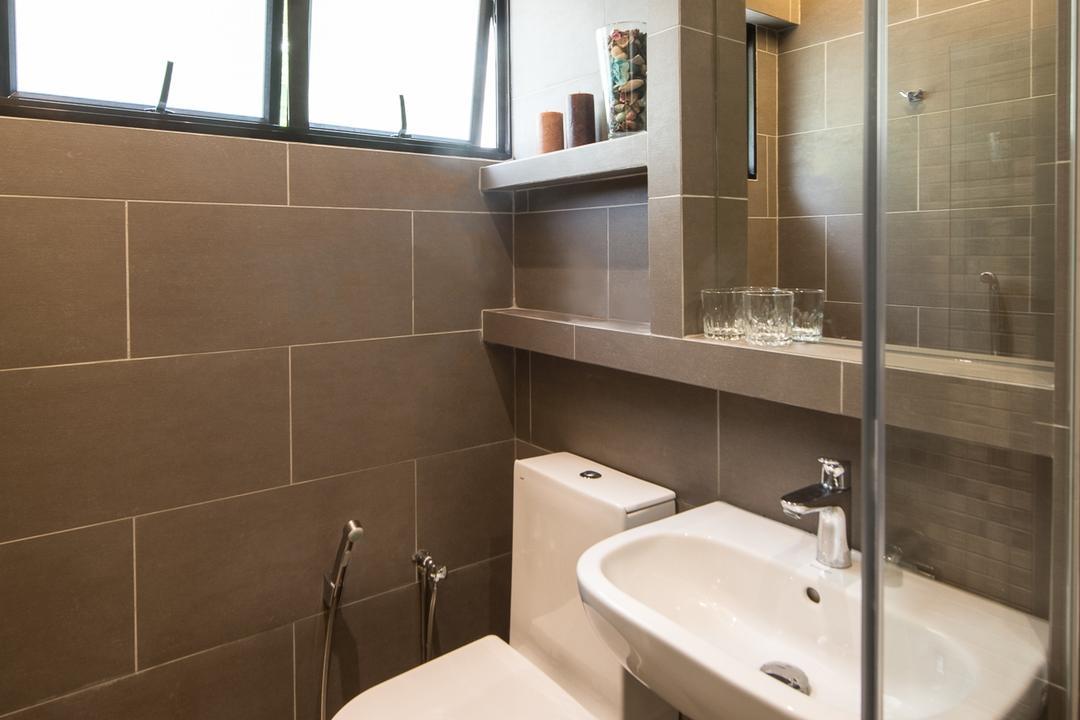 Woodlands Street 41 (Block 418), Fatema Design Studio, Traditional, Bathroom, HDB, Toilet Bowl, Sink, Toielt Bowl, Indoors, Interior Design, Room