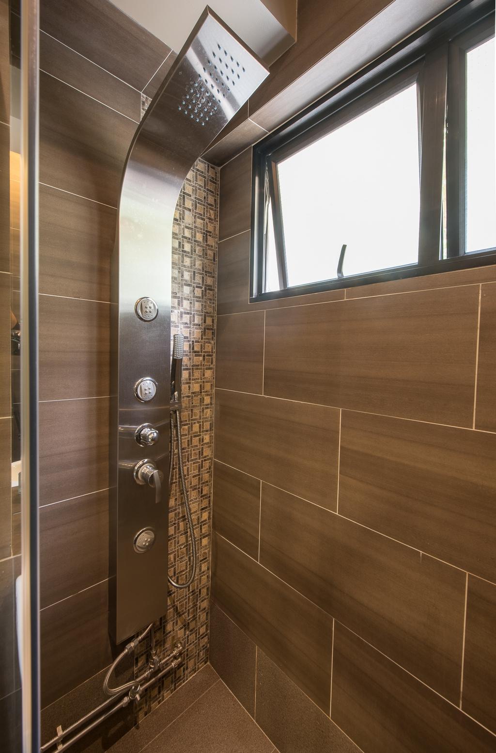 Traditional, HDB, Bathroom, Woodlands Street 41 (Block 418), Interior Designer, Fatema Design Studio, Wall Tiles, Shower