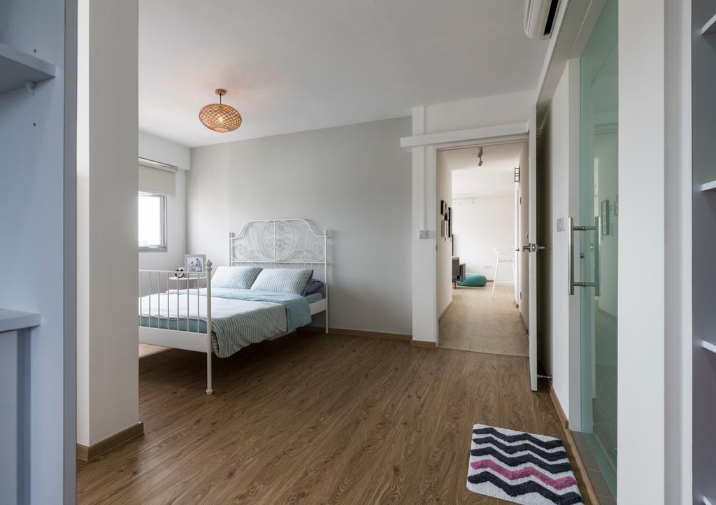 Scandinavian, HDB, Bedroom, Bukit Batok Street 21, Interior Designer, Colourbox Interior, Flooring