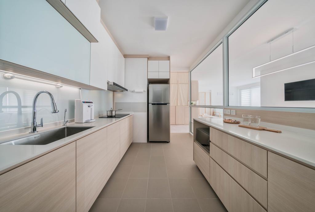 Minimalistic, HDB, Kitchen, Ang Mo Kio Street 51, Interior Designer, Weiken.com