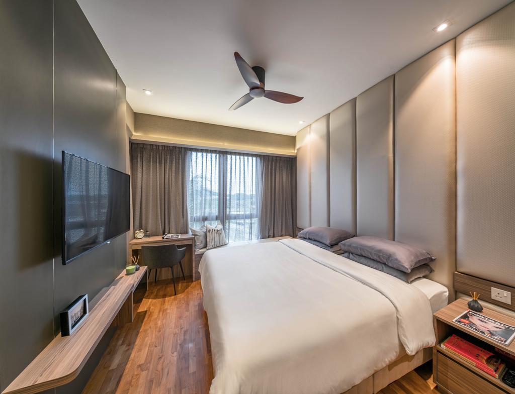 Contemporary, Condo, Bedroom, Watertown, Interior Designer, Weiken.com, Bed, Furniture, Indoors, Room, Interior Design, Plywood, Wood