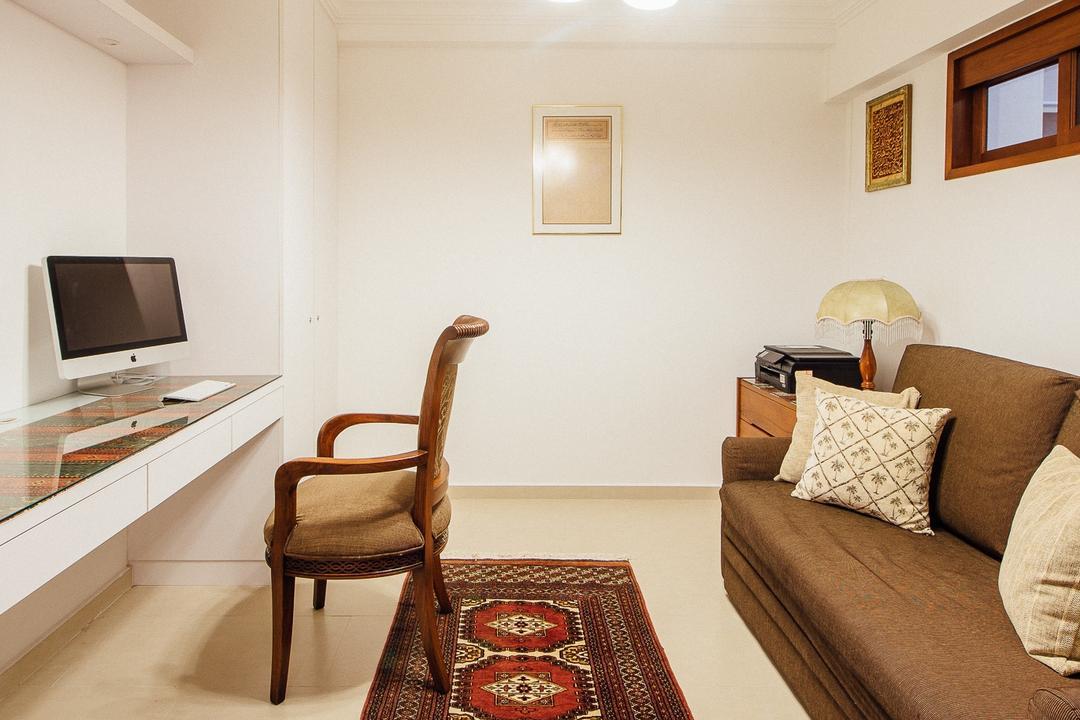 Serangoon North Ave 4 (Block 506B), Fatema Design Studio, Traditional, Bedroom, HDB, Sofa, Rg, Carpet, Arm Chair, Study Desk, Desk, Hanging Lights, Chair, Furniture, Indoors, Room