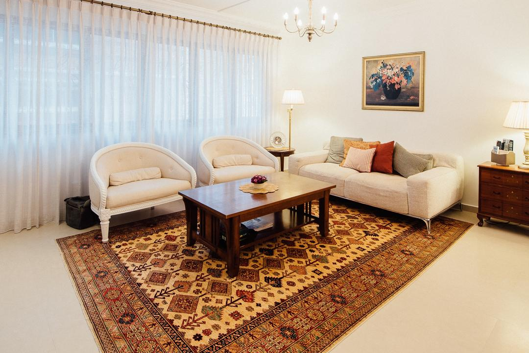 Serangoon North Ave 4 (Block 506B), Fatema Design Studio, Traditional, Living Room, HDB, Curtain, Rug, Carpet, Sofa, Coffee Tbale, Arm Chairs, Standing Lamp, Table Lamp, Side Tbale, Chandleier, Art, Painting, Couch, Furniture, Indoors, Room