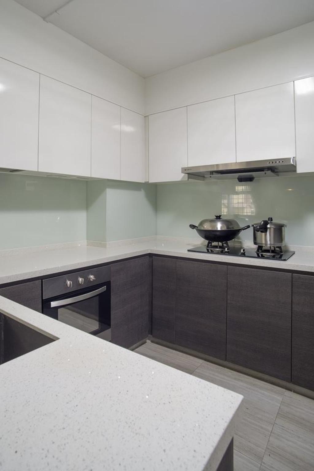 Modern, HDB, Kitchen, Woodlands Drive 70, Interior Designer, Boewe Design, Frying Pan, Wok