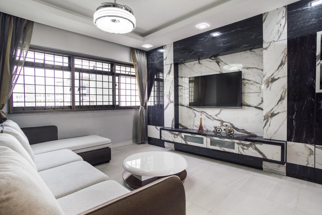 Modern, HDB, Living Room, Woodlands Drive 70, Interior Designer, Boewe Design, Couch, Furniture, Indoors, Room