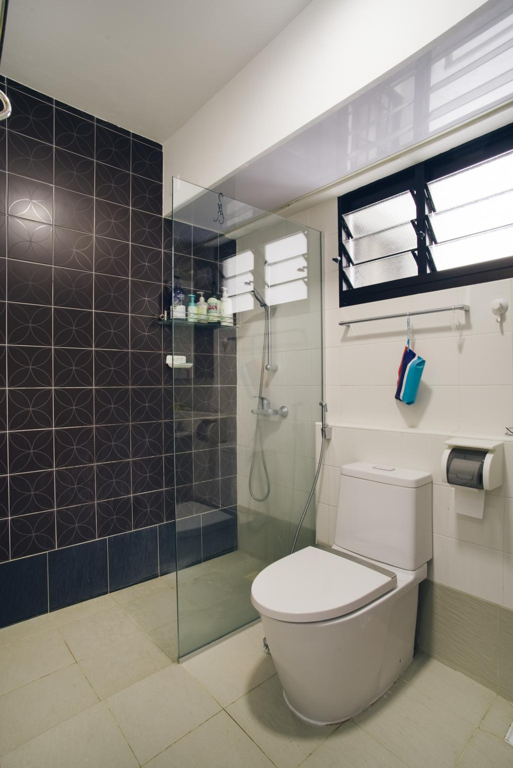 Minimalistic, HDB, Bathroom, Kang Ching Road, Interior Designer, Boewe Design, Shower, Appliance, Electrical Device, Washer